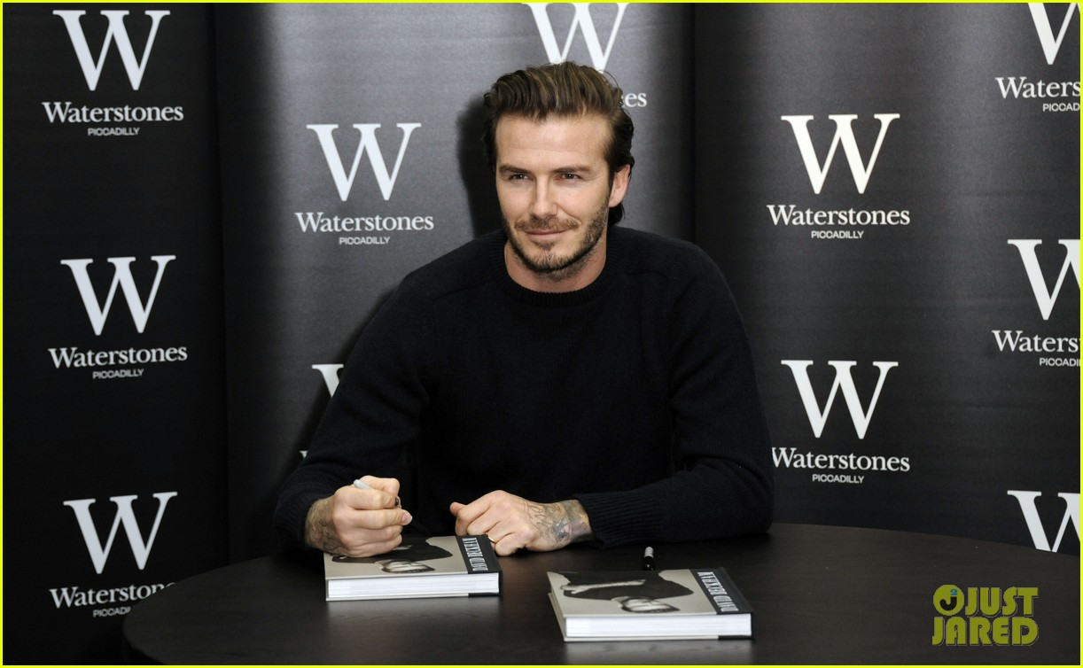 david beckham london book signing 093014772