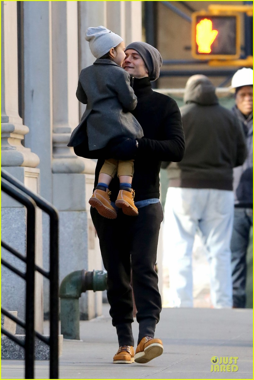 orlando bloom flynn beanie matching father son duo 233013197