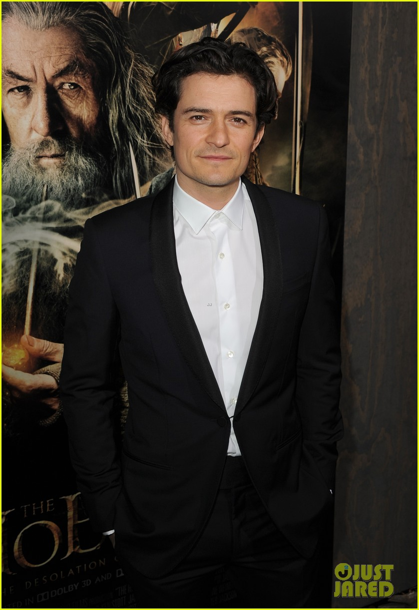 orlando bloom evangeline lilly hobbit hollywood premiere 063003758