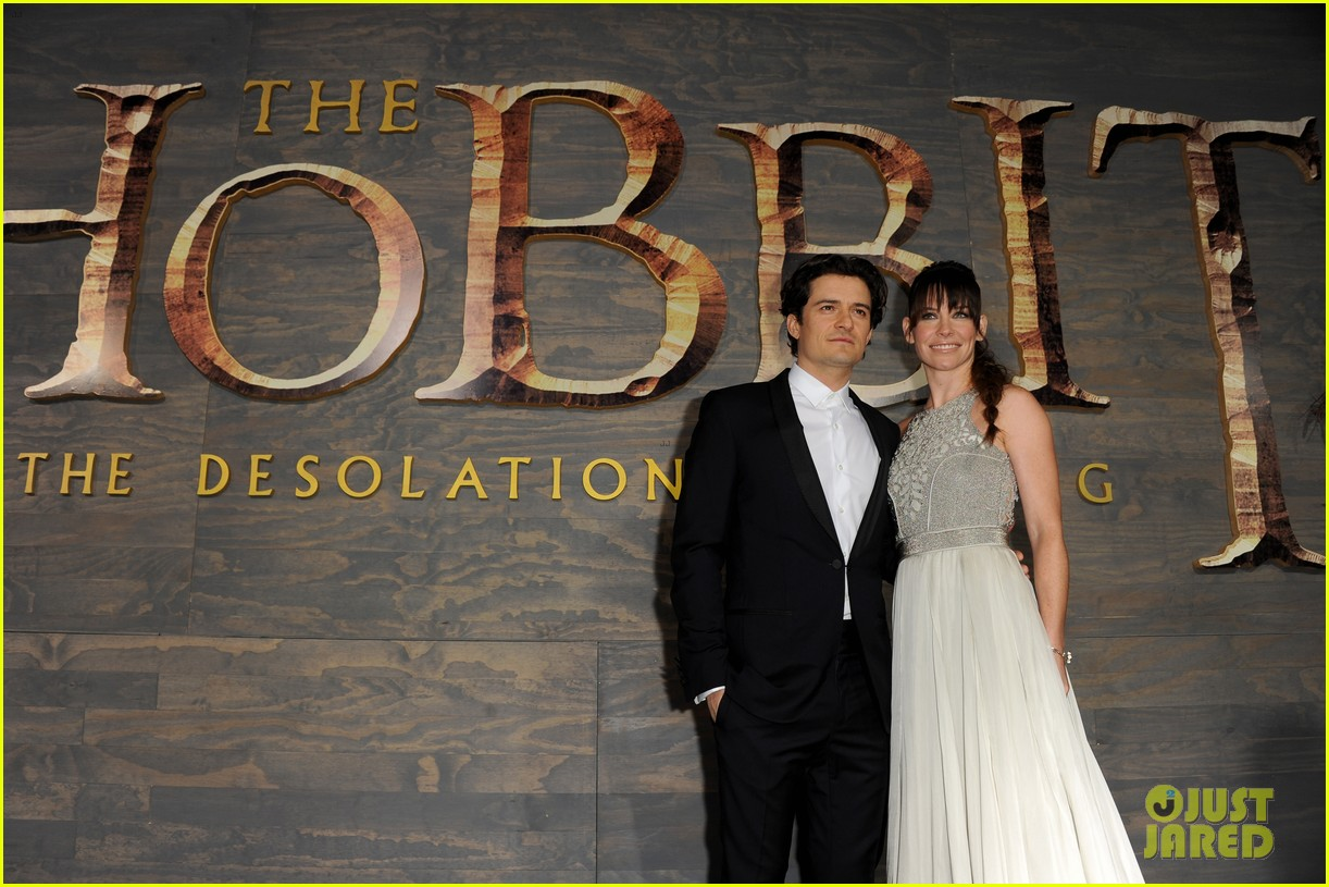 orlando bloom evangeline lilly hobbit hollywood premiere 083003760