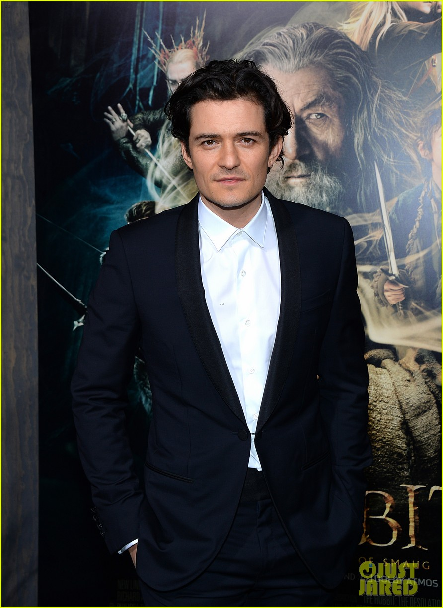 orlando bloom evangeline lilly hobbit hollywood premiere 103003762