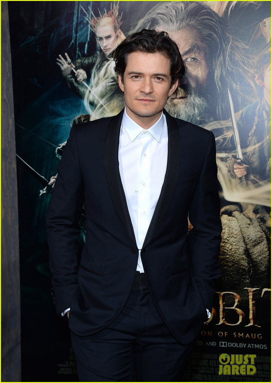 orlando bloom evangeline lilly hobbit hollywood premiere 153003767