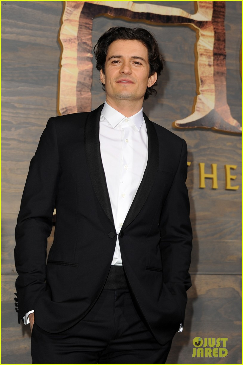 orlando bloom evangeline lilly hobbit hollywood premiere 163003768