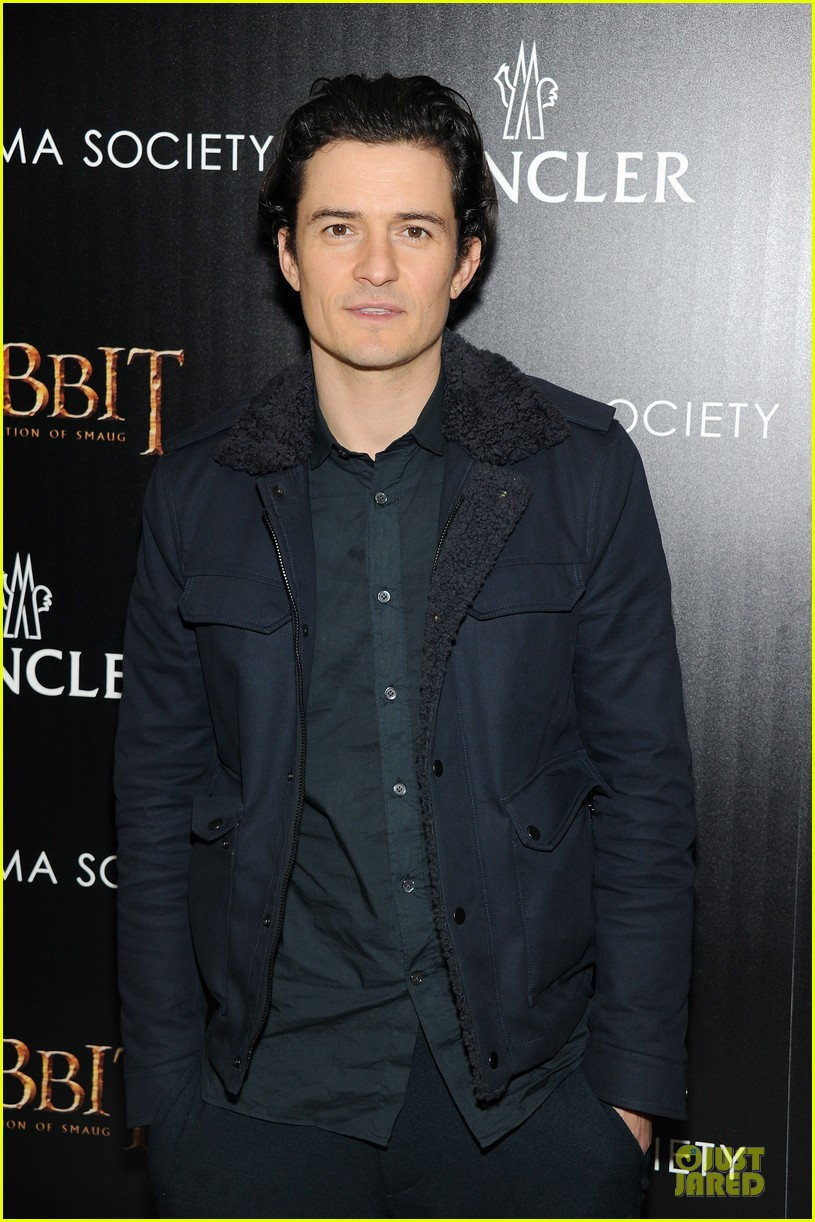 orlando bloom evangeline lilly hobbit nyc screening 123010237