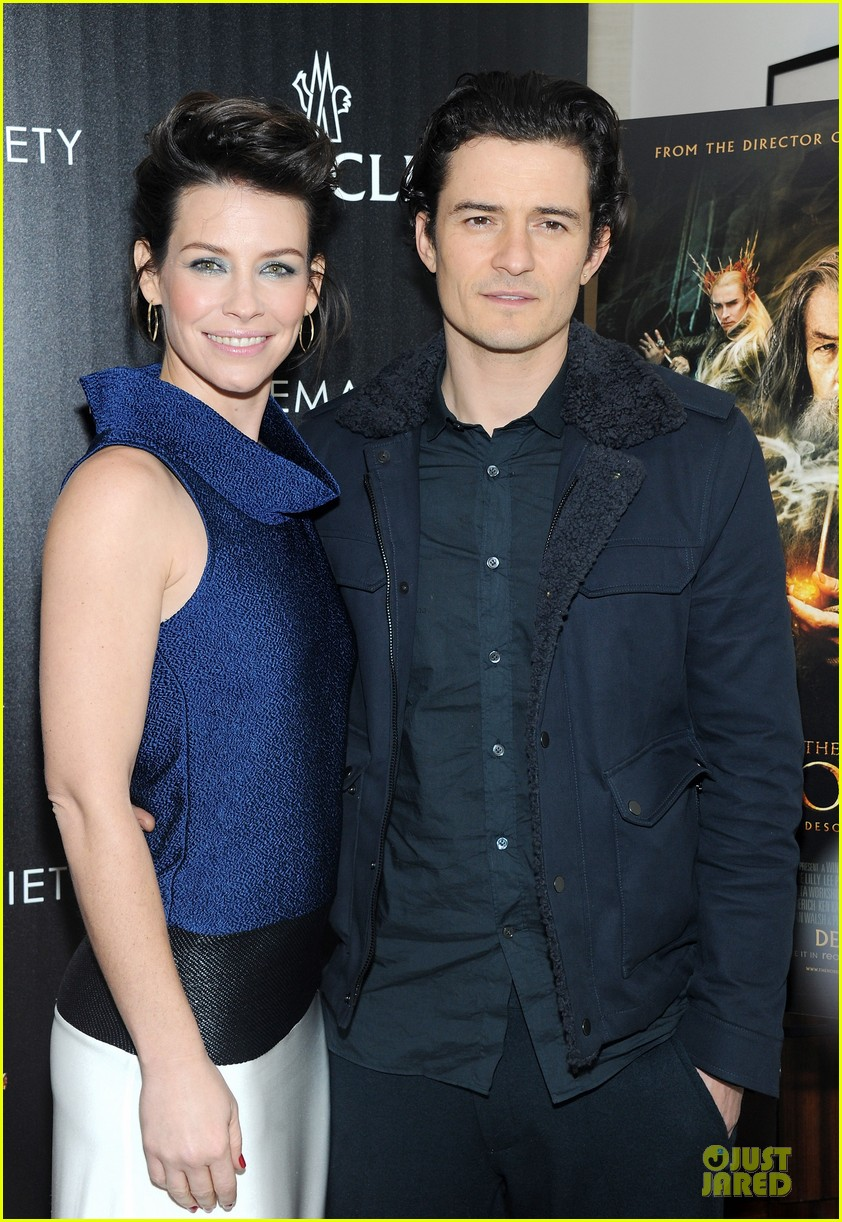 orlando bloom evangeline lilly hobbit nyc screening 17