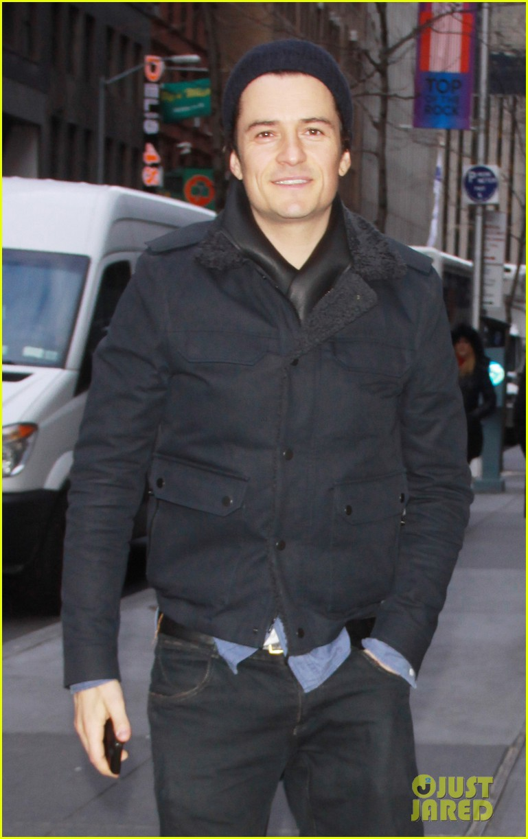 orlando bloom rides with miranda kerr after today show 02