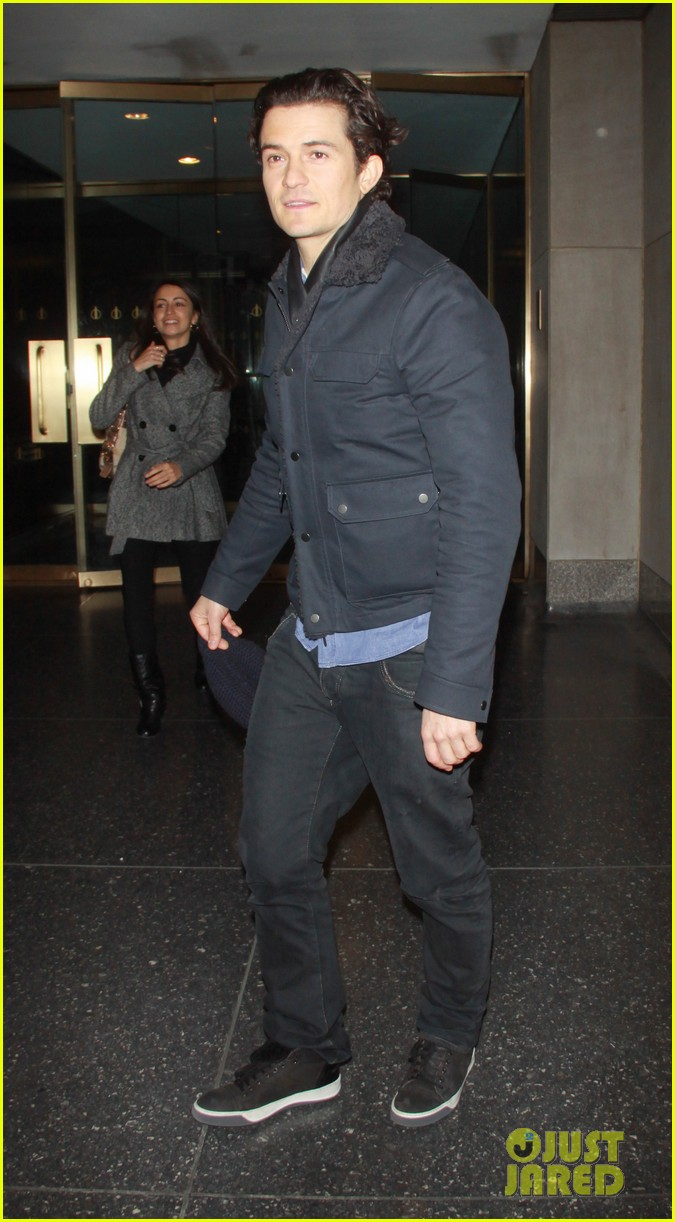 orlando bloom rides with miranda kerr after today show 05