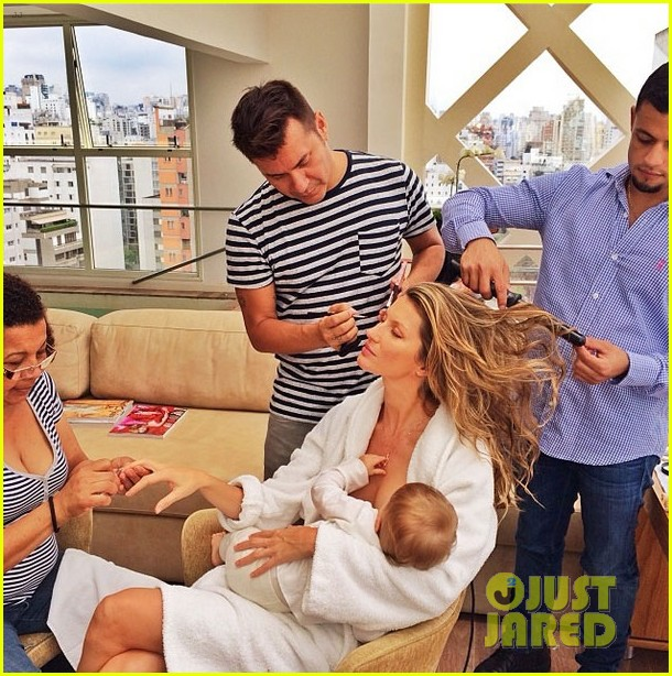 gisele bundchen shares breastfeeding pic before oral b event 03