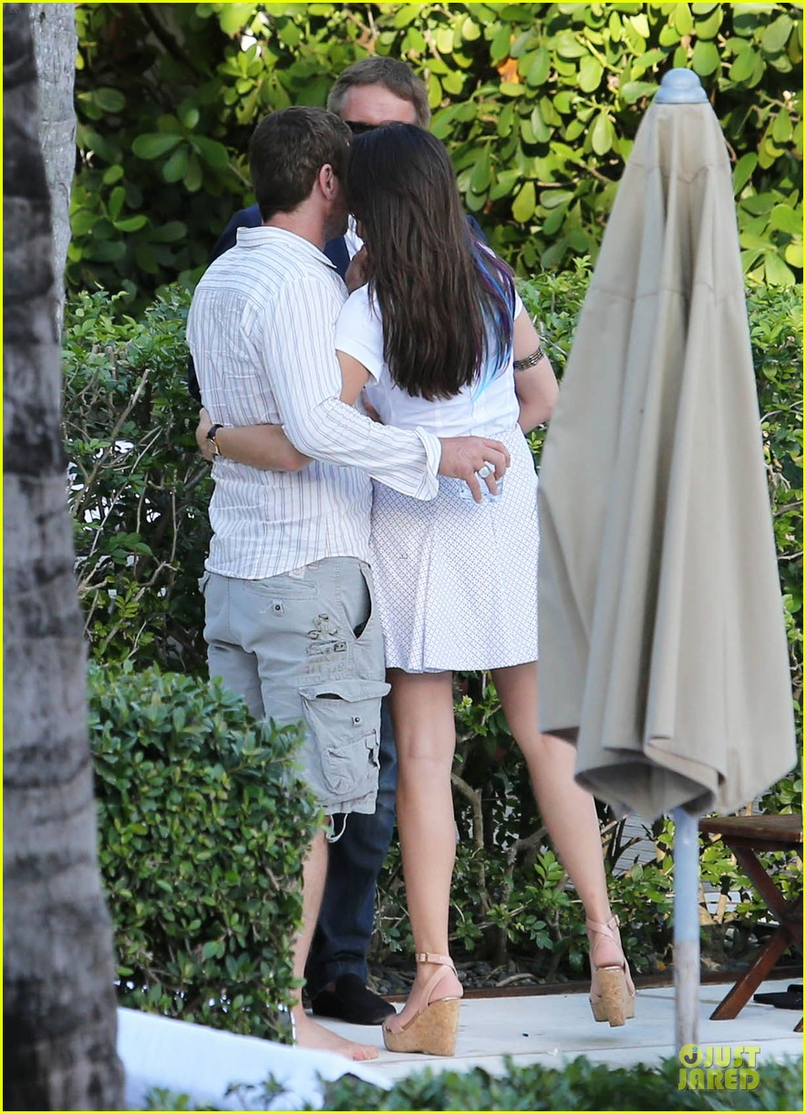 gerard butler relaxes at miami hotel pool with friends 243004347