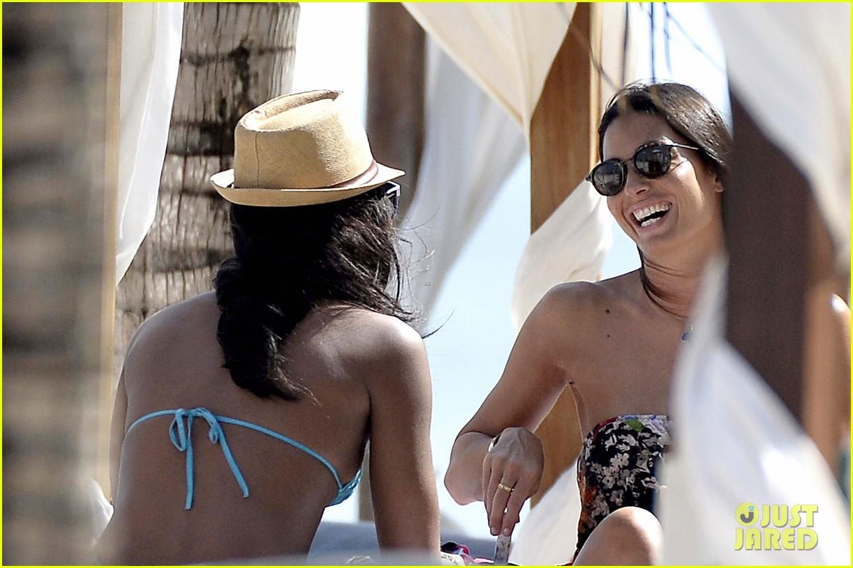 naomi campbell rocks a blue bikini at the beach in kenya 153019315