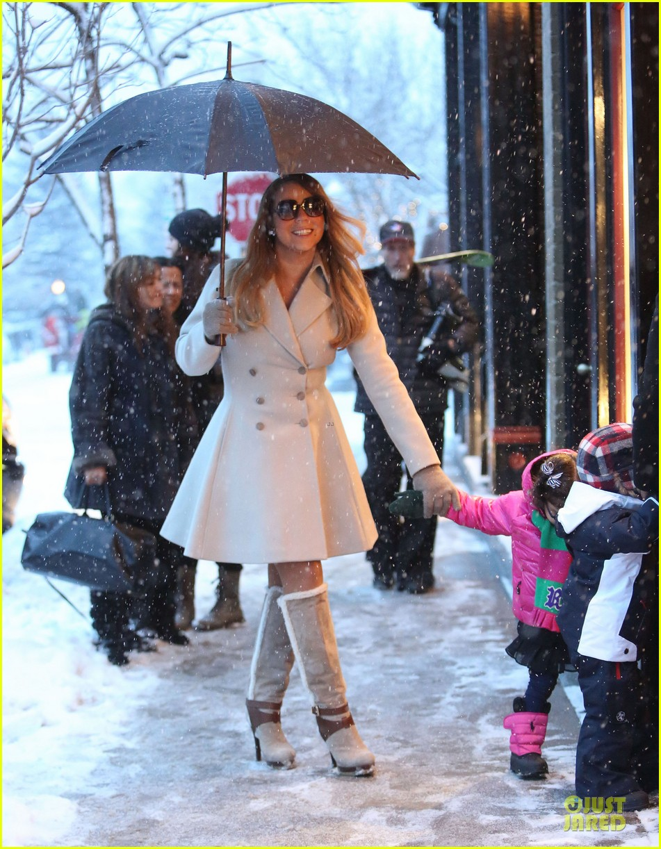mariah carey snowy aspen shopping with the twins 073015616