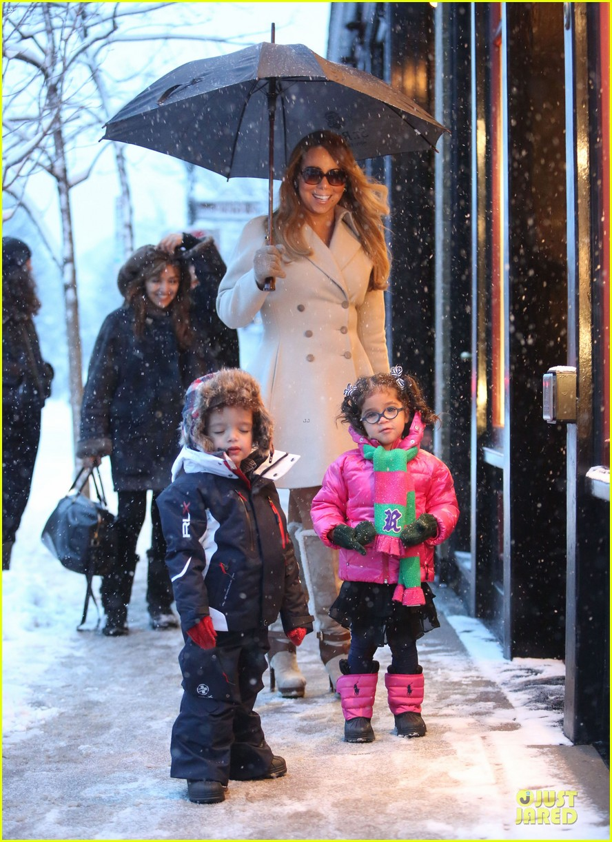 mariah carey snowy aspen shopping with the twins 123015621