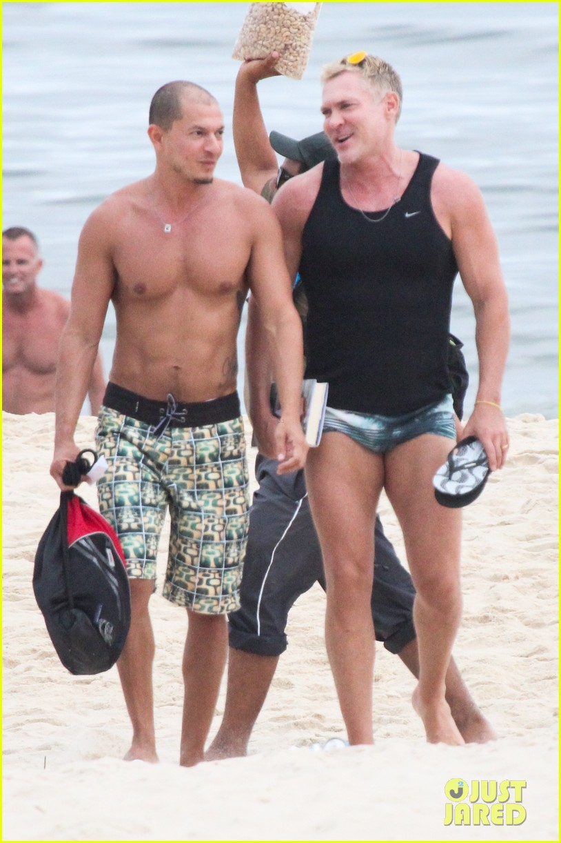 gmas sam champion shirtless buff beach time 063017877