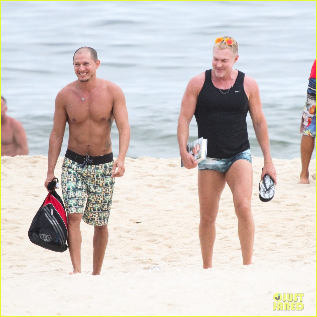 gmas sam champion shirtless buff beach time 073017878