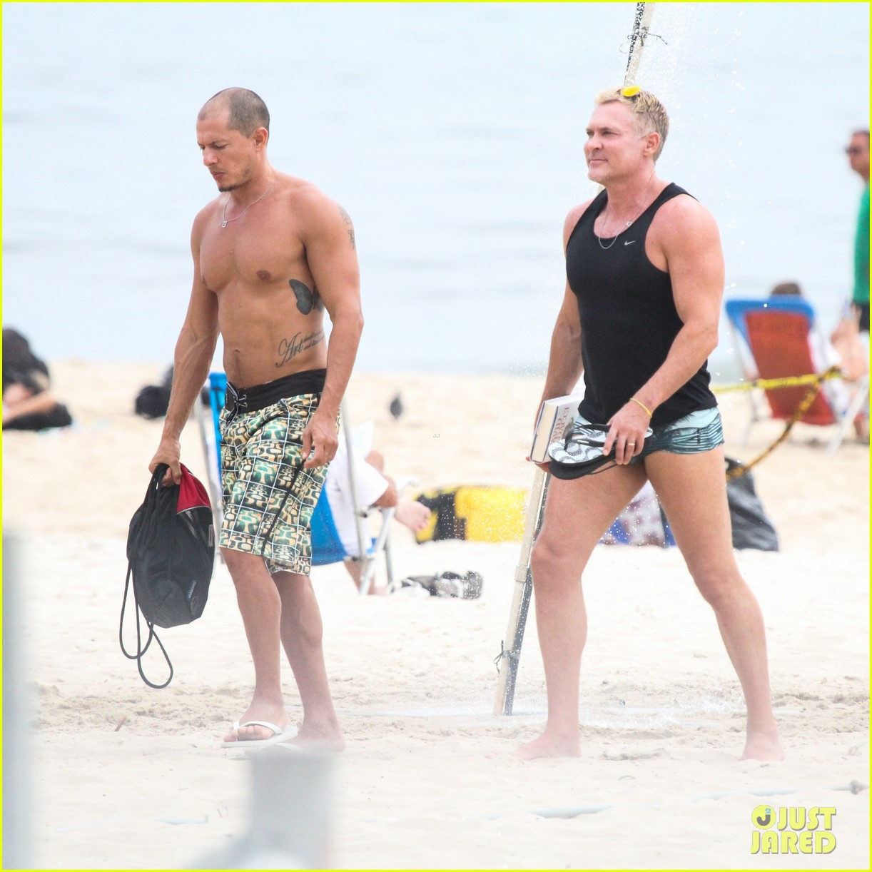 gmas sam champion shirtless buff beach time 113017882
