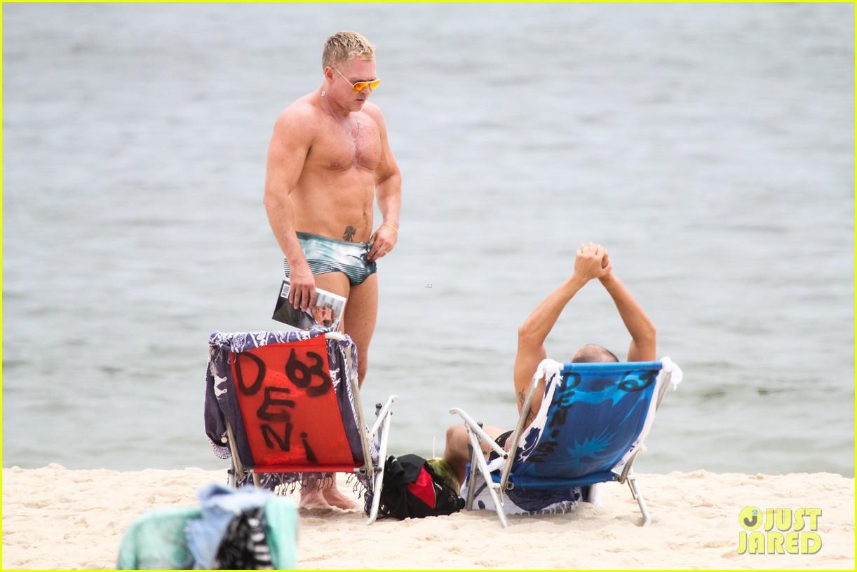 gmas sam champion shirtless buff beach time 143017885