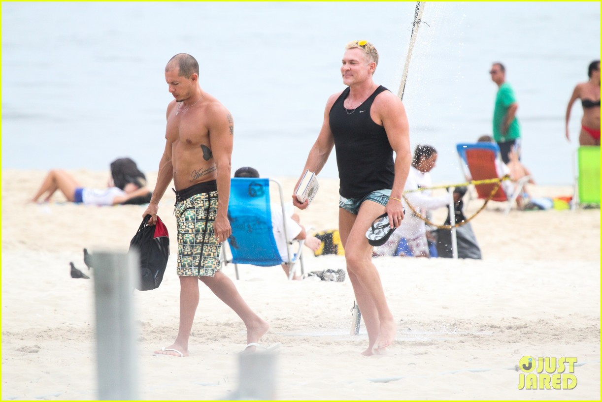 gmas sam champion shirtless buff beach time 173017888