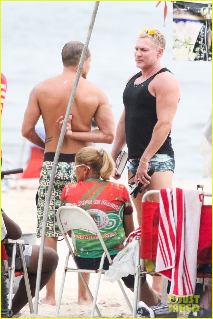 gmas sam champion shirtless buff beach time 213017892