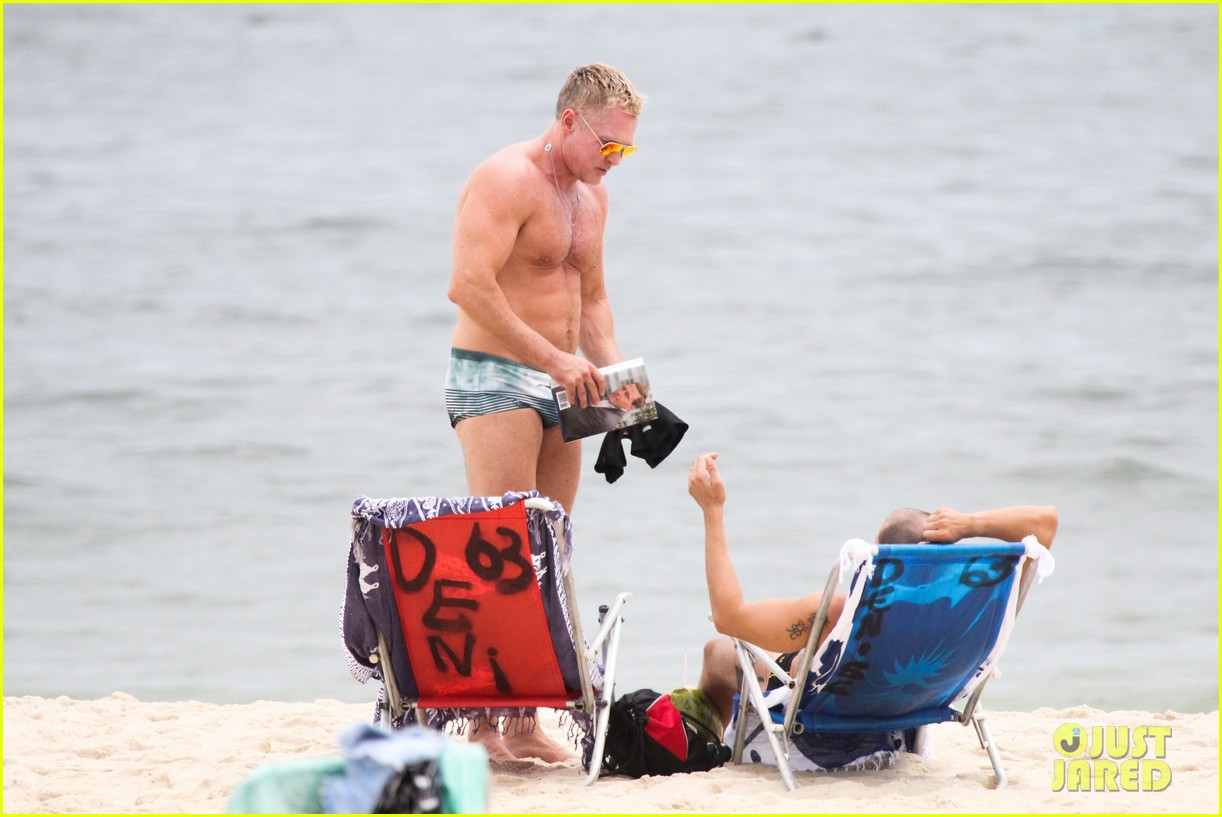 gmas sam champion shirtless buff beach time 243017895