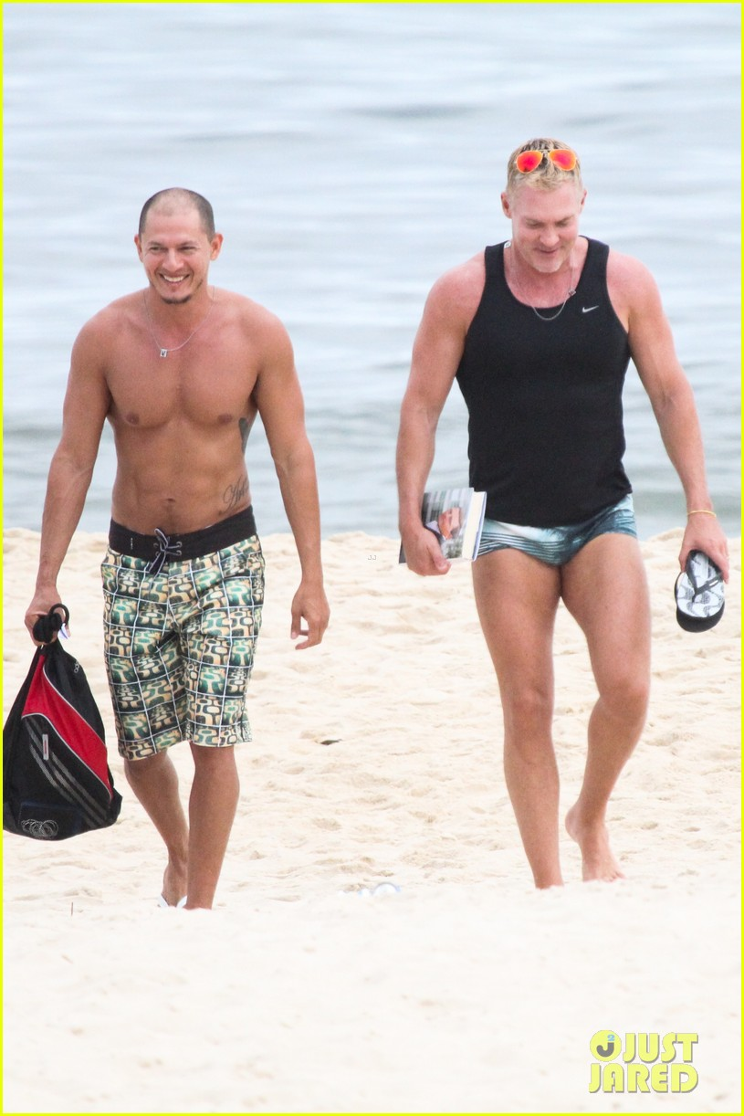 gmas sam champion shirtless buff beach time 25