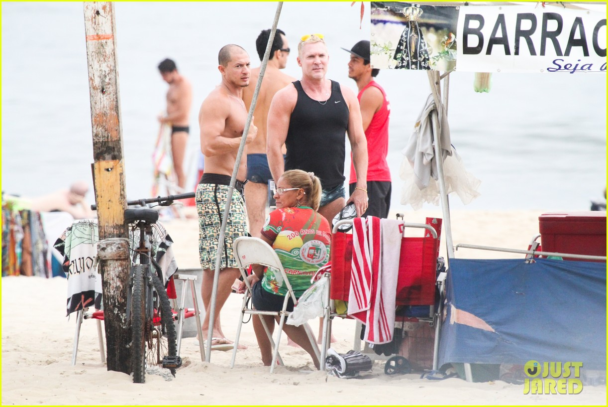 gmas sam champion shirtless buff beach time 26