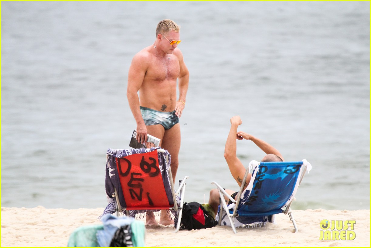 gmas sam champion shirtless buff beach time 293017900