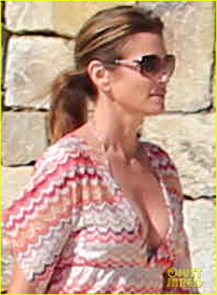 cindy crawford bikini cover up cabo beach party 023019469