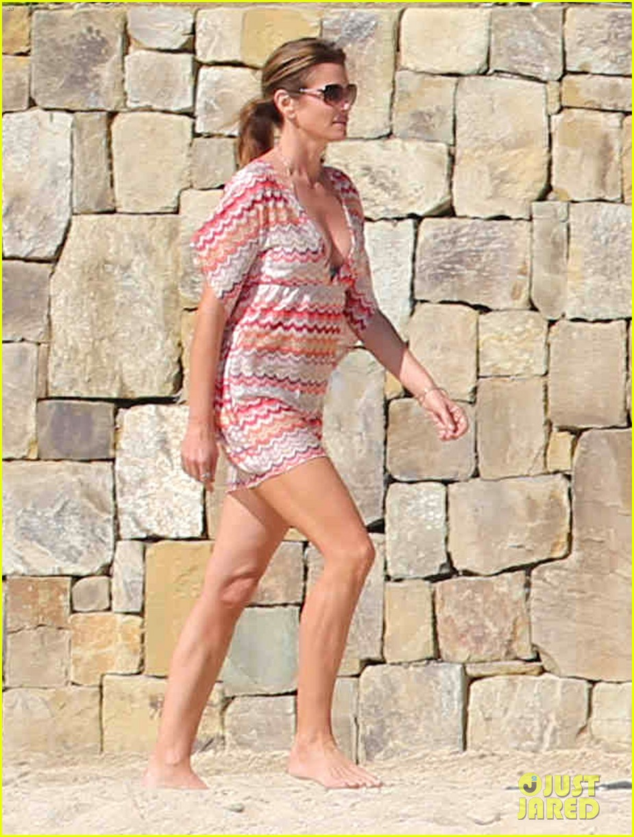 cindy crawford bikini cover up cabo beach party 033019470
