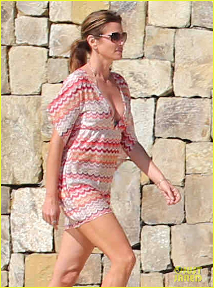 cindy crawford bikini cover up cabo beach party 043019471