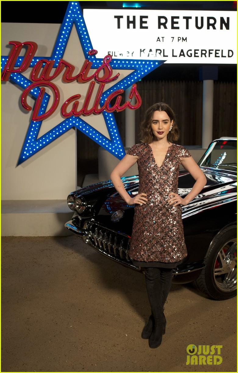 lily collins zoe kravitz chanel fashion show in texas 013009598