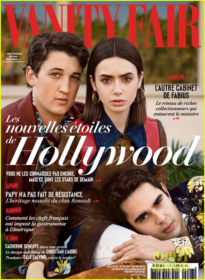 Lily Collins Amp Max Minghella Cover Vanity Fair France