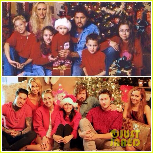 miley cyrus shares family fist fight christmas photo 053017915