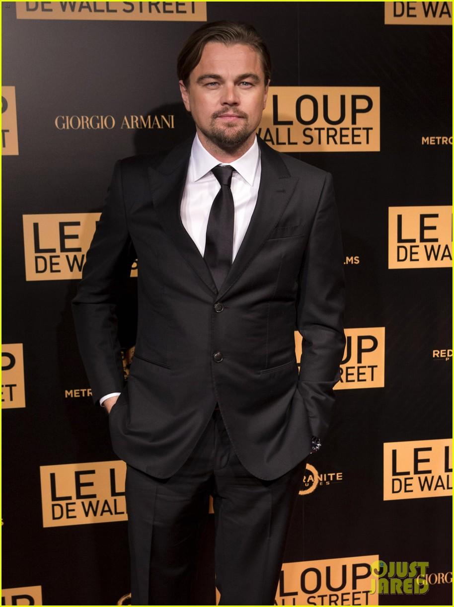leonardo dicaprio wolf of wall street paris photo call 093008440