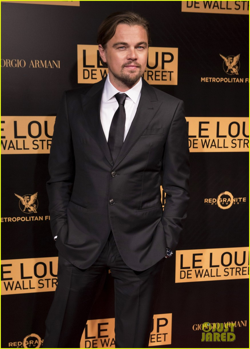 leonardo dicaprio wolf of wall street paris photo call 123008443