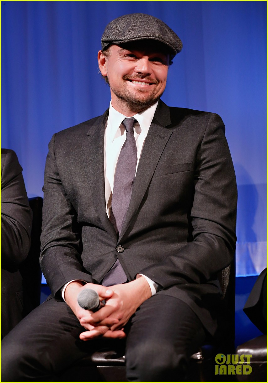 leonardo dicaprio wolf of wall street sciences academy screening 013014735