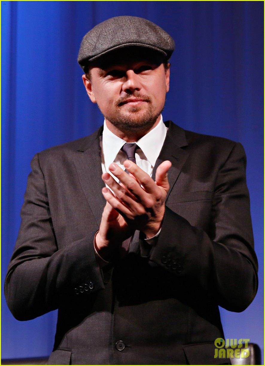 leonardo dicaprio wolf of wall street sciences academy screening 093014743