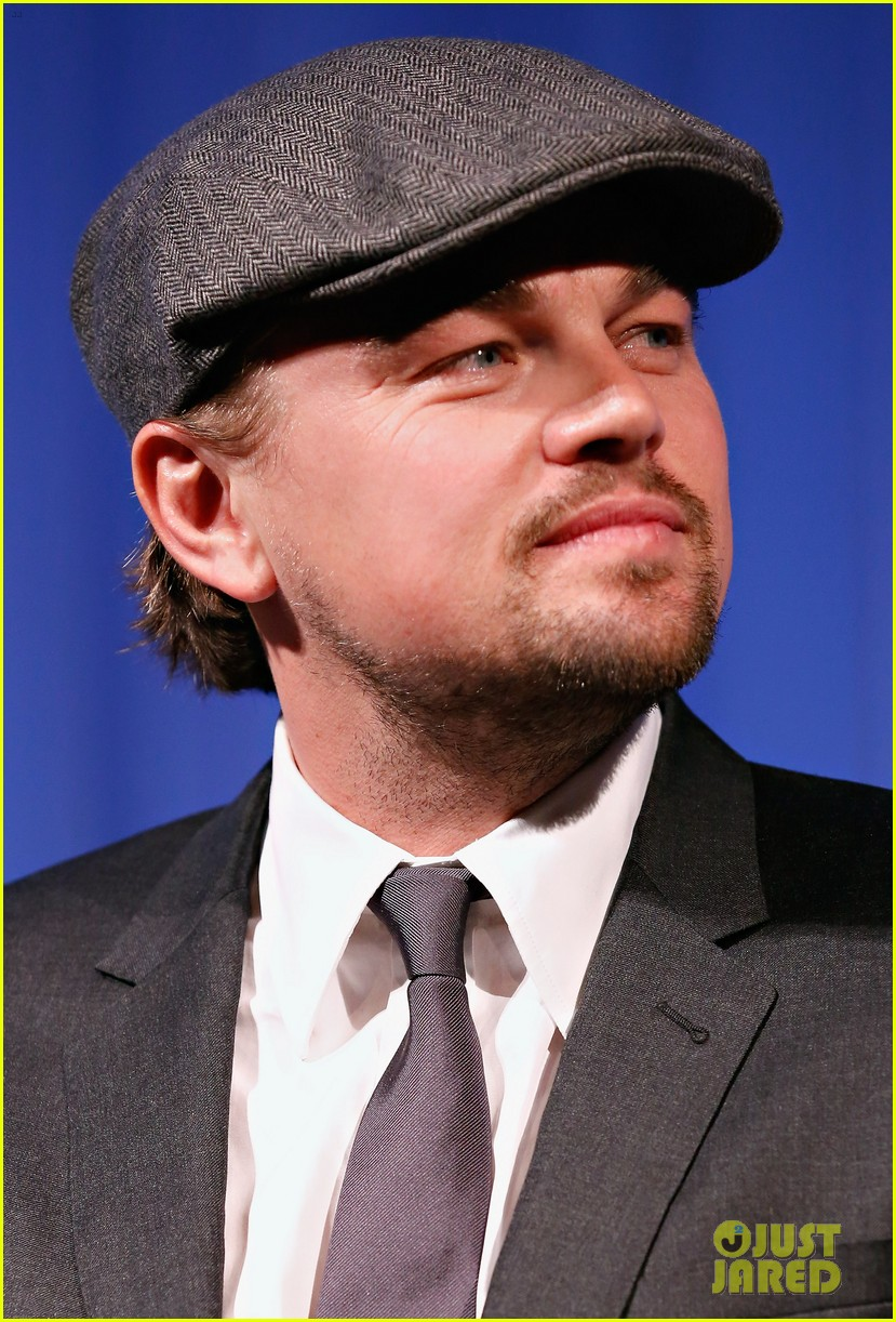 leonardo dicaprio wolf of wall street sciences academy screening 103014744