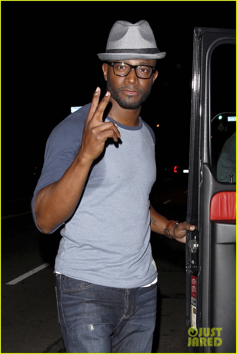 taye diggs sweats it out at post christmas club night 09