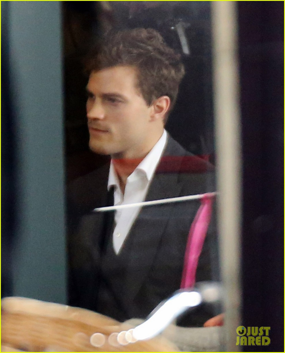 jamie dornan filming fifty shades of grey first photos on set 163002976