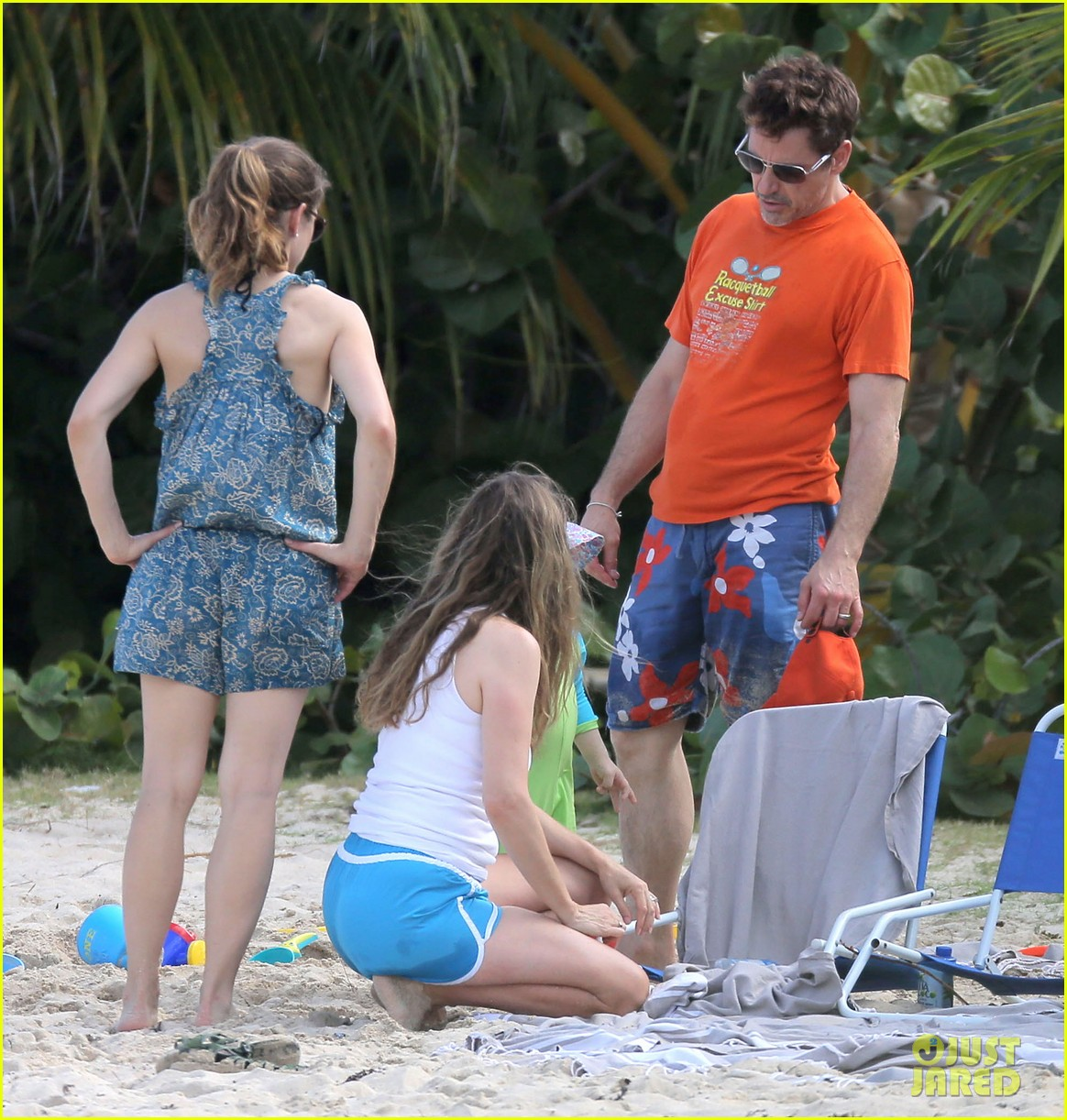 robert downey jr swims shirtless plays with exton in st barts 013019696