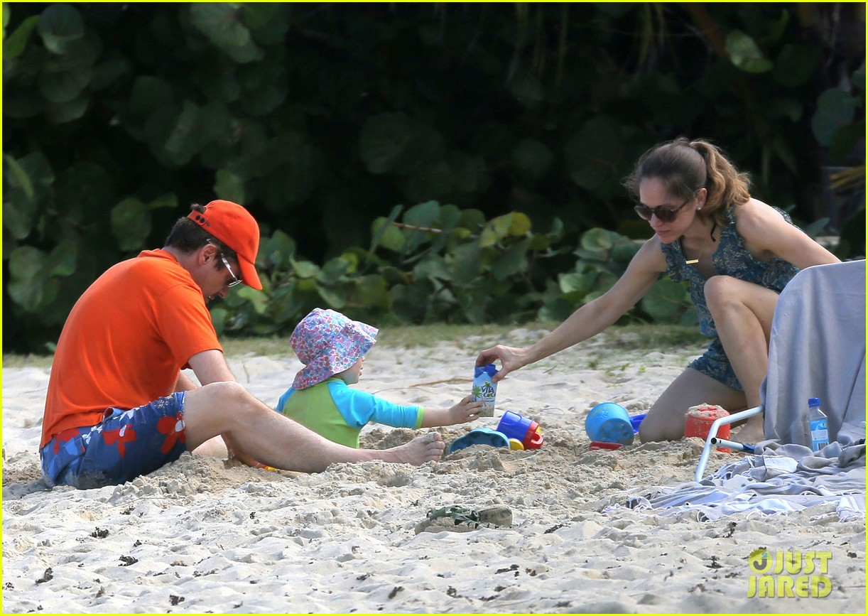 robert downey jr swims shirtless plays with exton in st barts 073019702