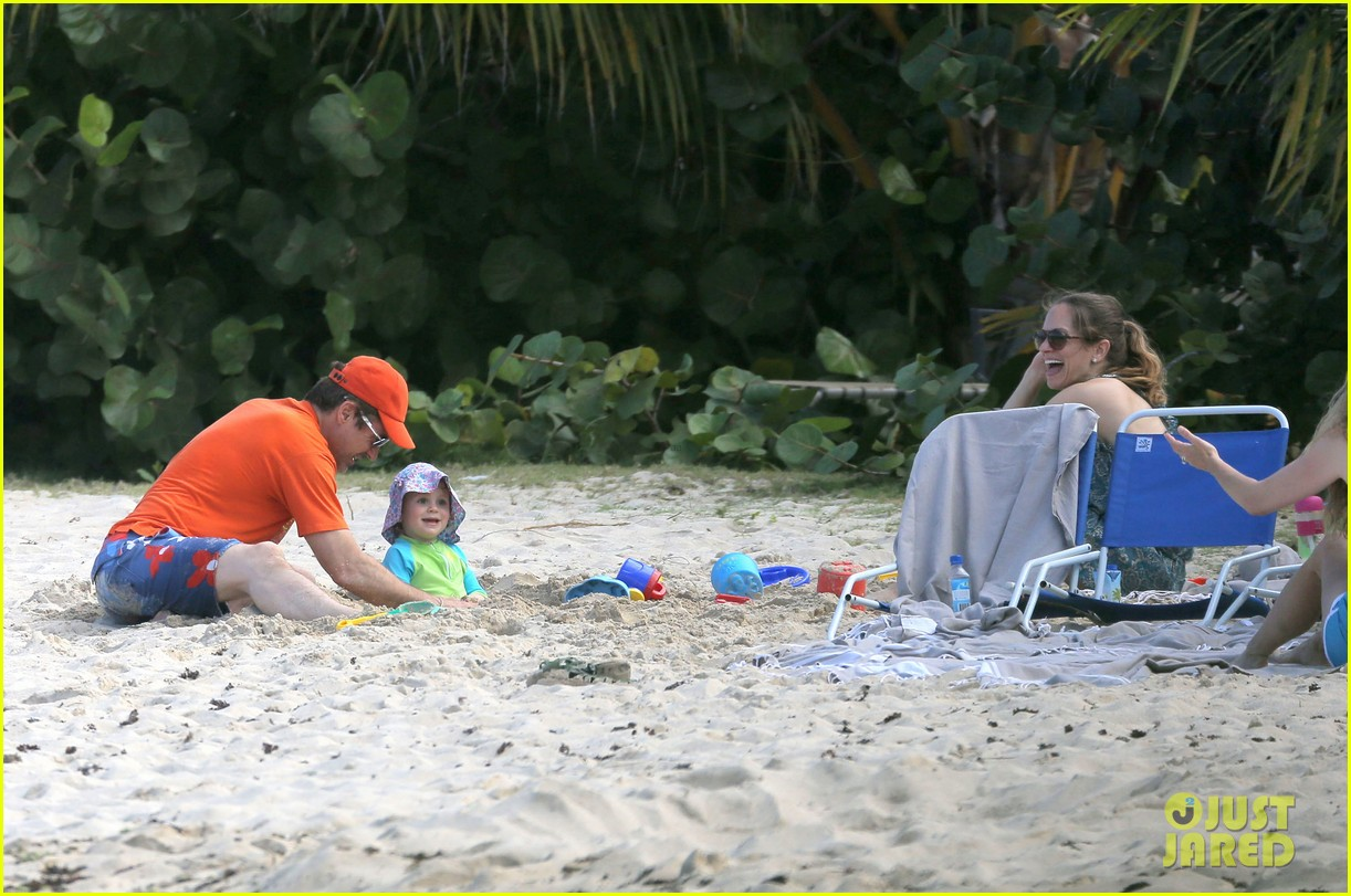 robert downey jr swims shirtless plays with exton in st barts 083019703
