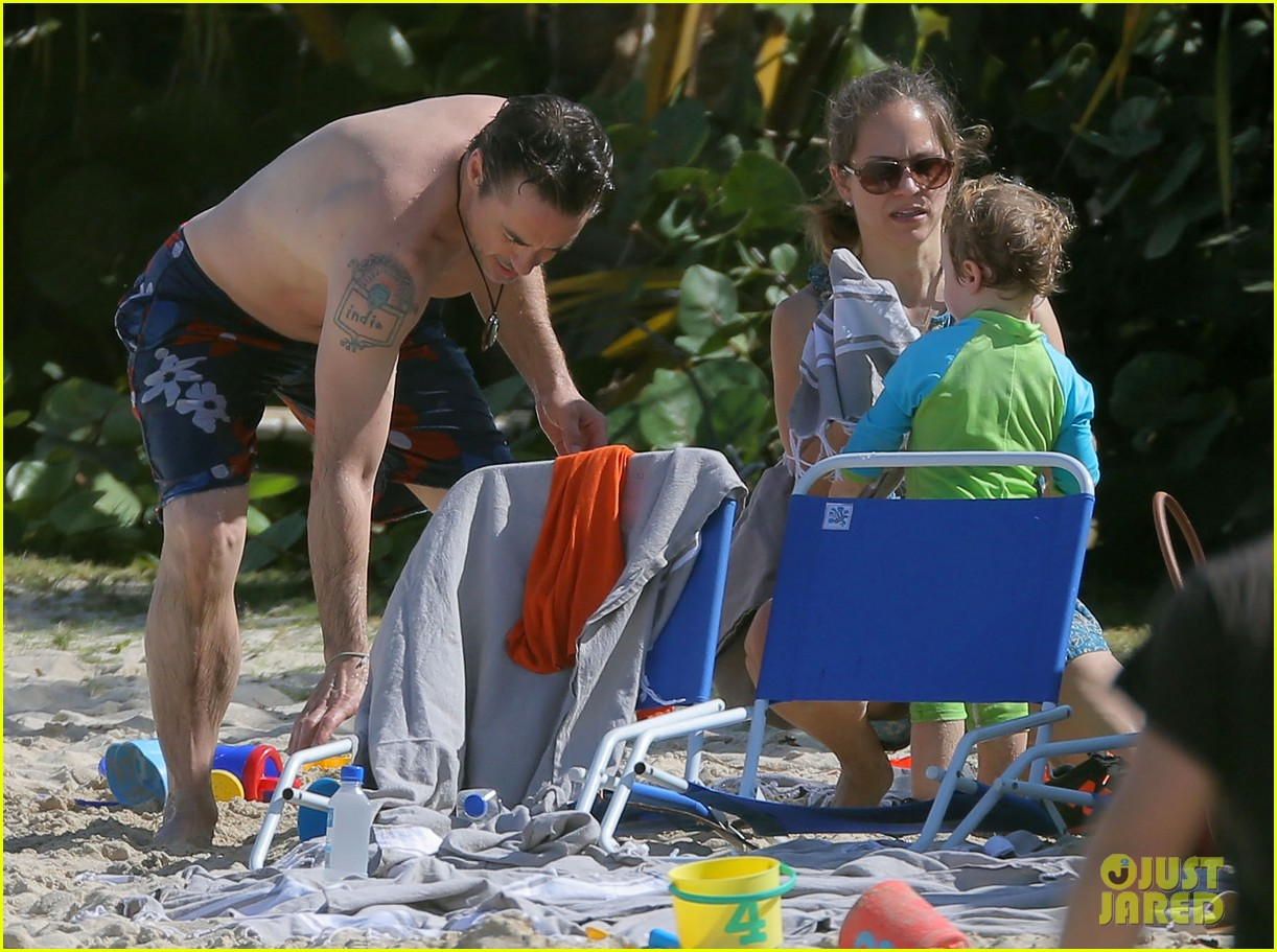 robert downey jr swims shirtless plays with exton in st barts 103019705