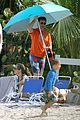 robert downey jr swims shirtless plays with exton in st barts 14