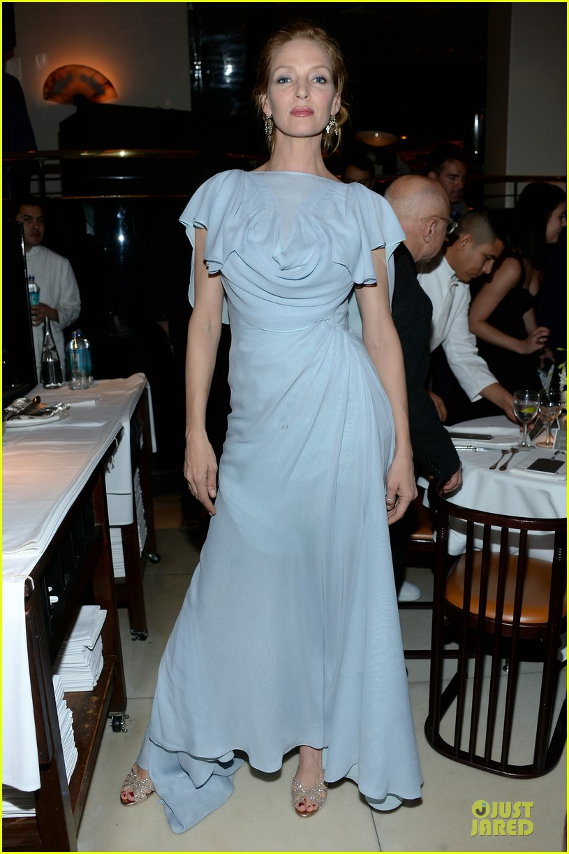 dita von teese uma thurman zac posen pre fall dinner 05