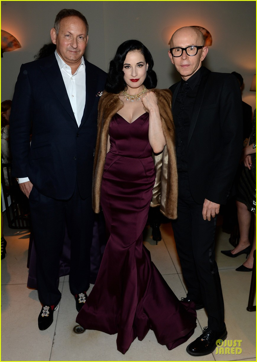 dita von teese uma thurman zac posen pre fall dinner 11