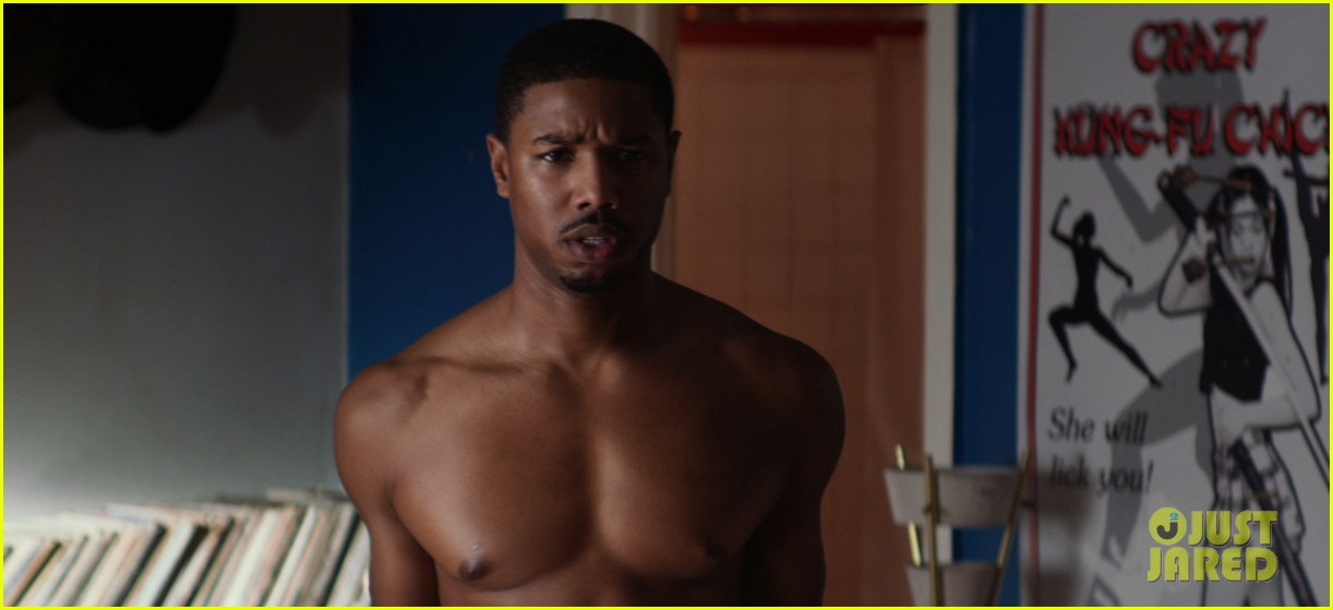 zac efron michael b jordan shirtless for that awkward moment 03