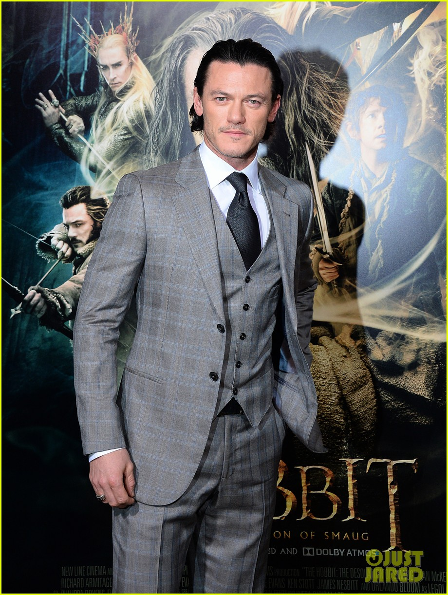 luke evans richard armitage desolation of smaug premiere 10