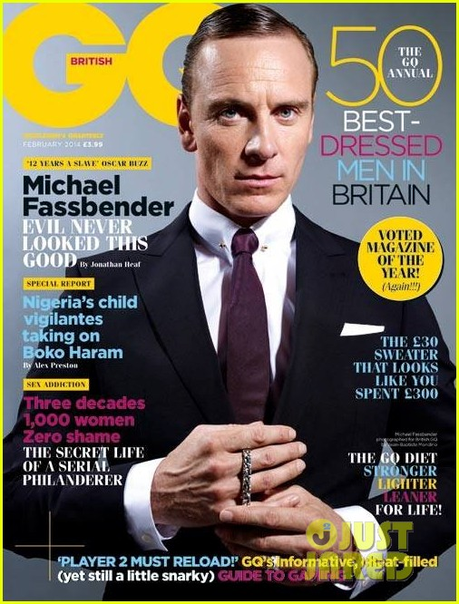 michael fassbender covers british gq february 2014 013019577
