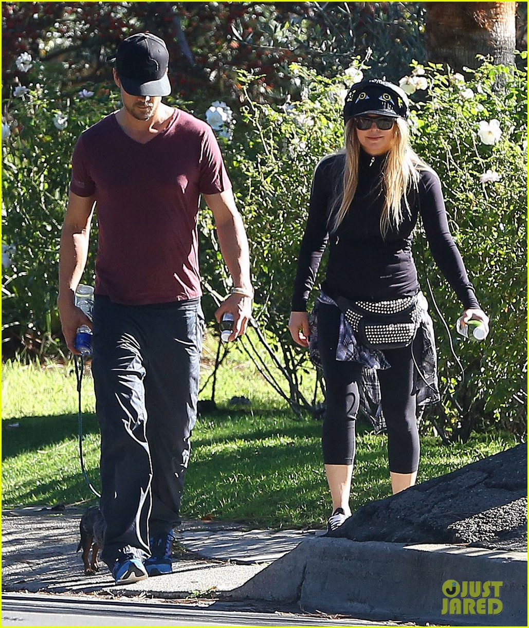 fergie josh duhamel dog walking duo 113003023